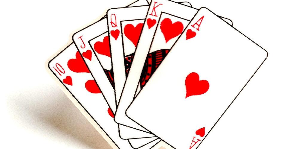 Bague LA REINE DE COEUR, cartes à jouer miniatures