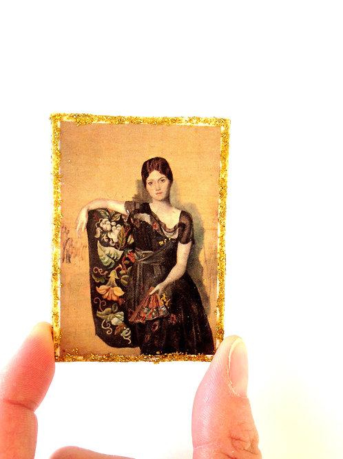 Tableau miniature pailleté pour maison de poupée