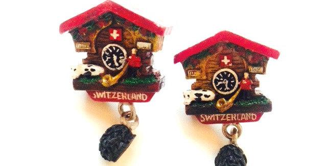 Puces d'oreilles COUCOU !! Horloges suisses miniatures
