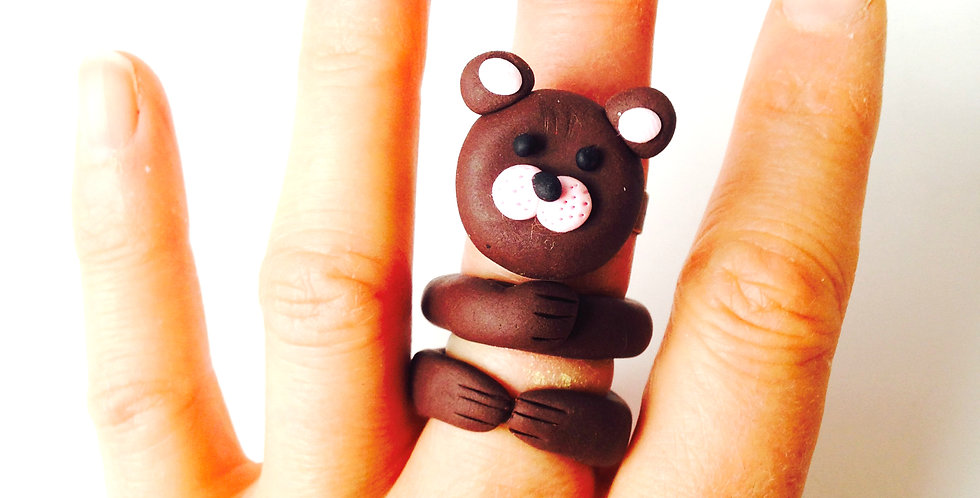 Bague multiple L'OURS BRUN