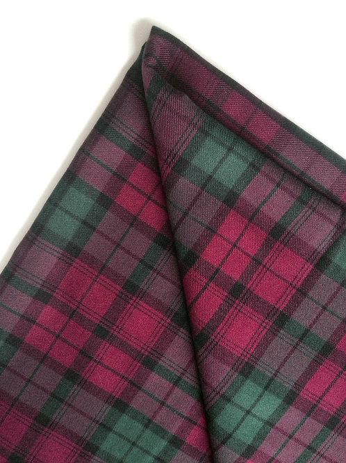 "TARTAN écossais, ""Lindsay"", Medium Weight, violet / vert coupon 152 x 144 cm"