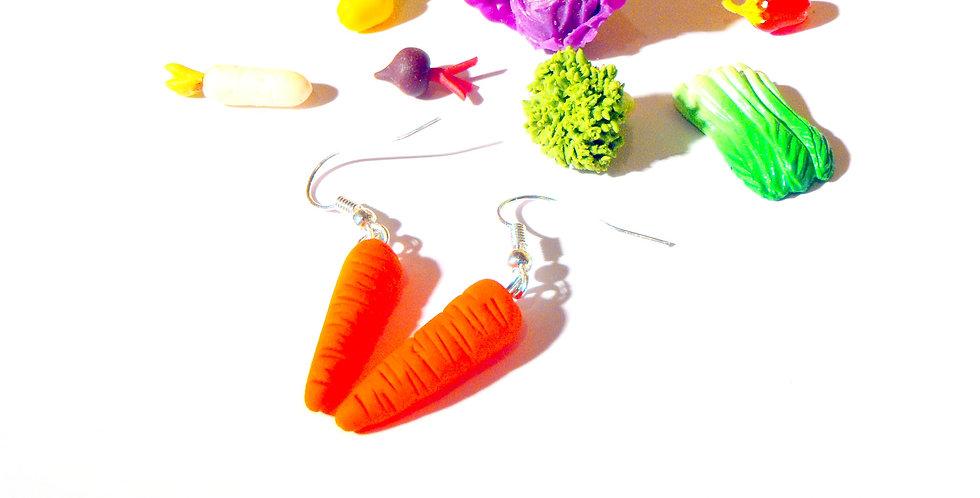 Boucles d'oreilles LES CAWOTTES, carottes miniatures