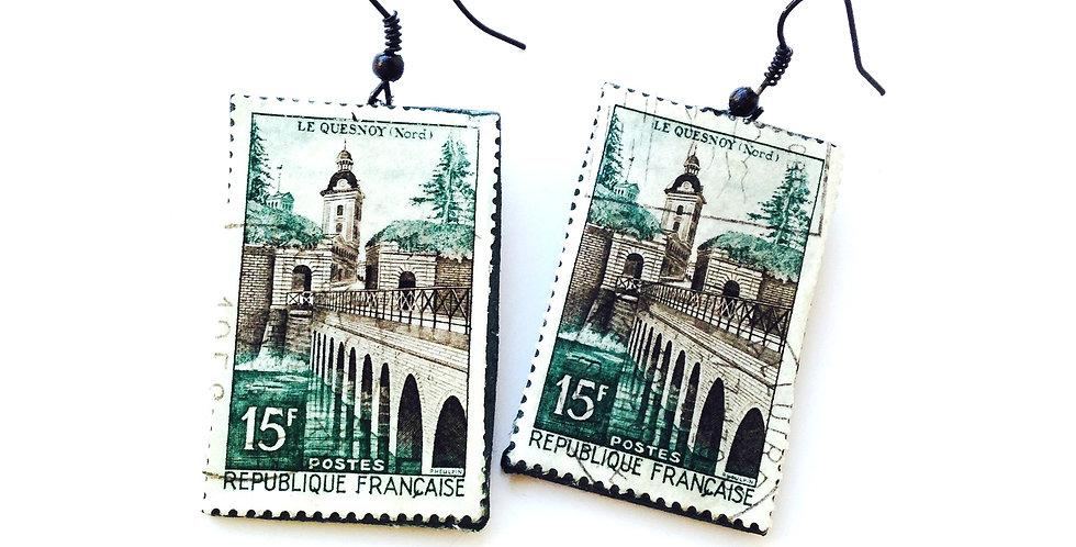 Boucles timbres LE QUESNOY, NORD, vintage