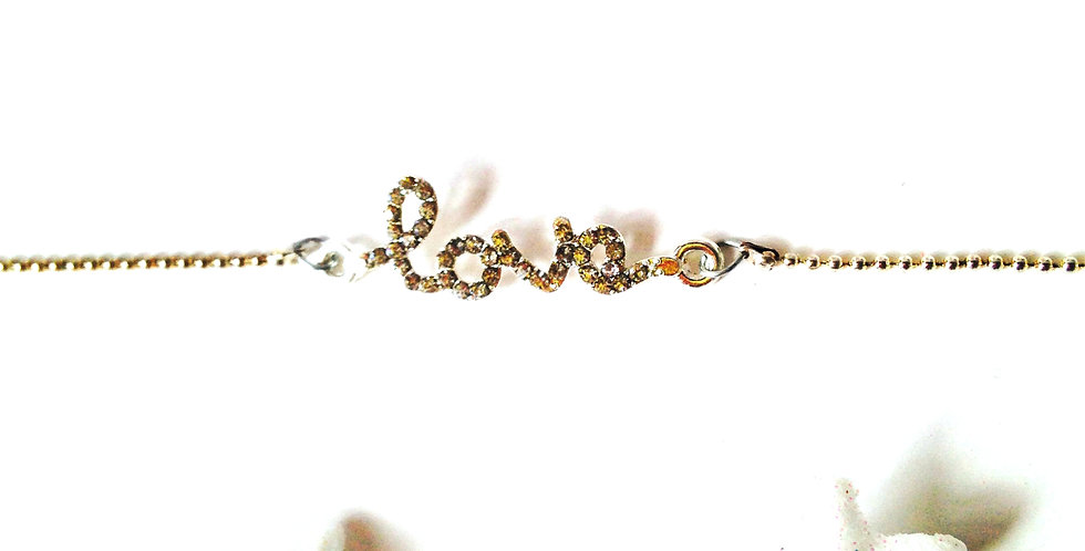 Bracelet LOVE avec strass