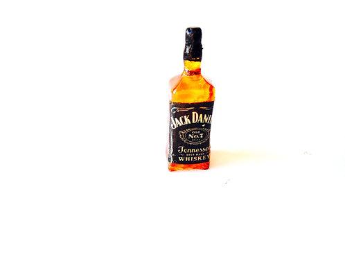 Bouteille de whisky miniature, faite main en résine et papier