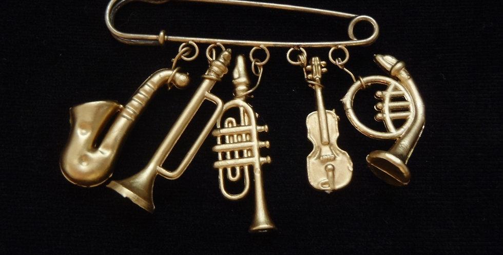 Broche ONE NIGHT IN NEW ORLEANS, instruments de musique