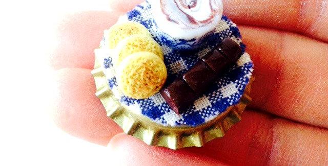 Magnet LES P'TITS SABLÉS BRETONS, miniature, chocolat chaud