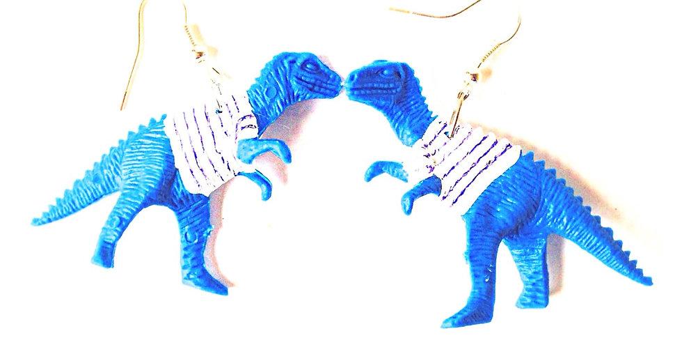 Boucles d'oreilles LES JUMEAUSORES, bleus marinière