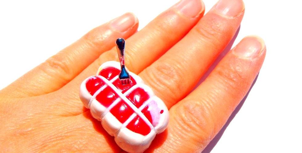 Bague LE GIGOT, rôti miniature, ajustable