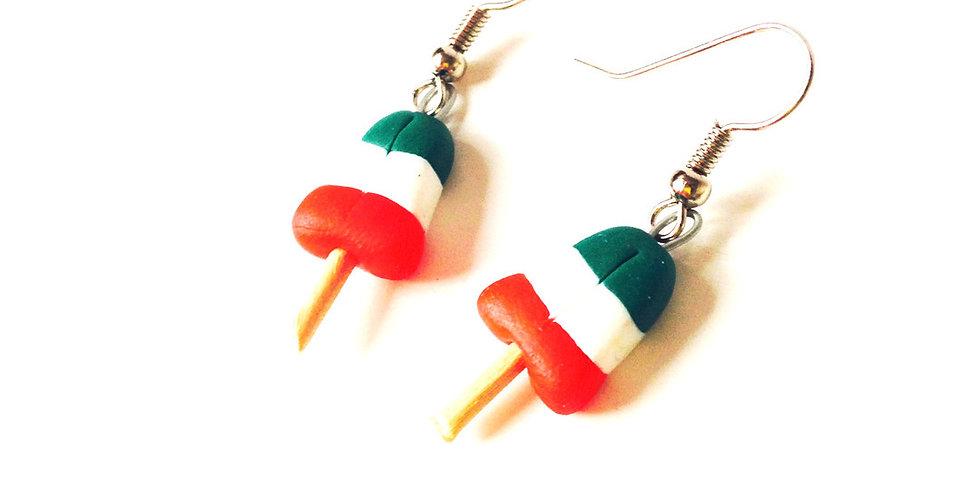 Boucles AGLAGLACES, vert, blanc, rouge