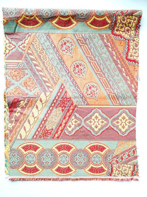 Petit coupon de toile fine motifs ART DÉCO, luxe, pastel