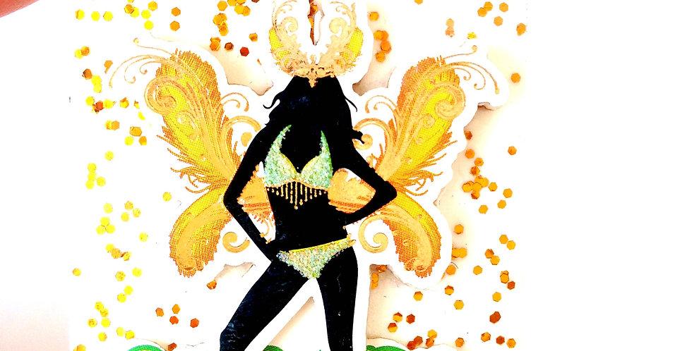 Sautoir SAMBA, danseuse brésilienne