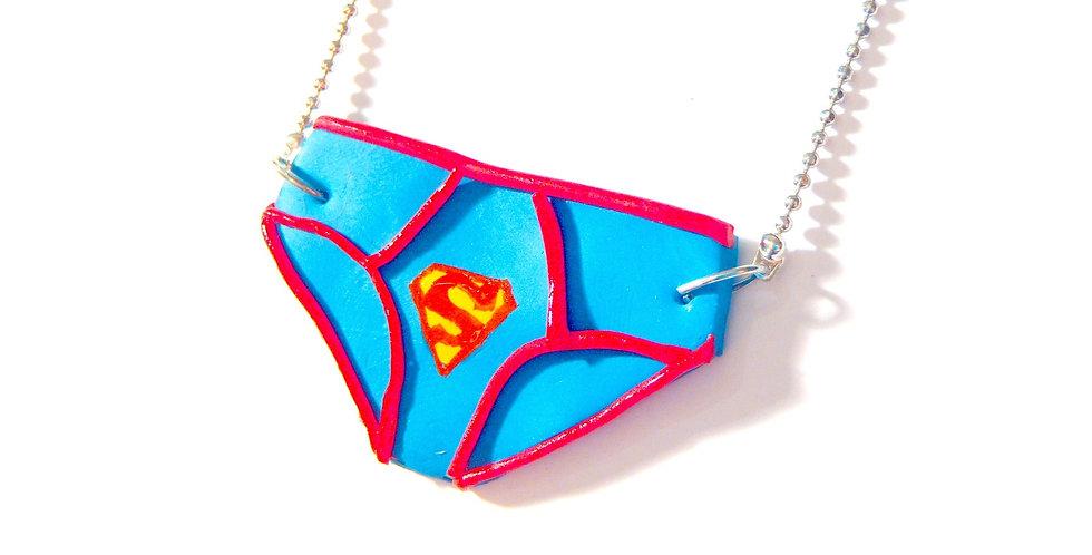 Sautoir SUPERMAN, petite culotte de superman, miniature