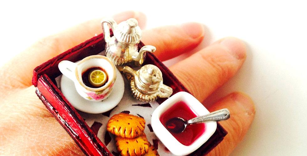 Bague LE GOÛTER CHEZ MÉMÉ, scène miniature par The Sausage
