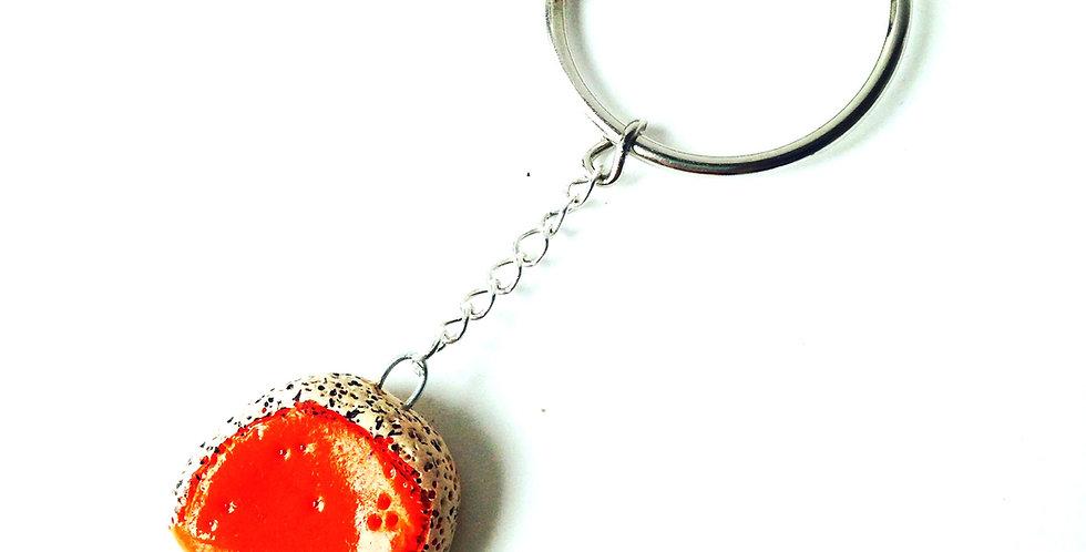 Porte clé L'AMIE MOLLETTE, mimolette vieille, part miniature
