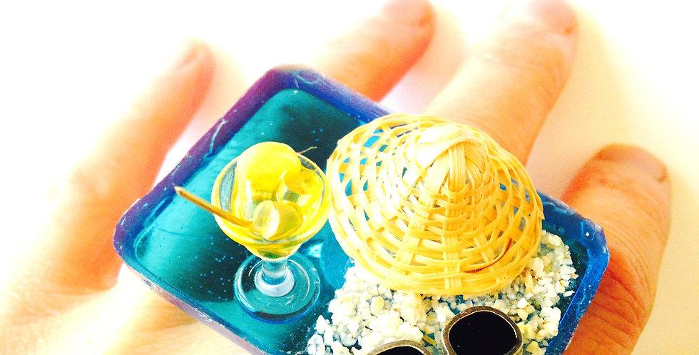 Bague LA PLAGE, scène miniature