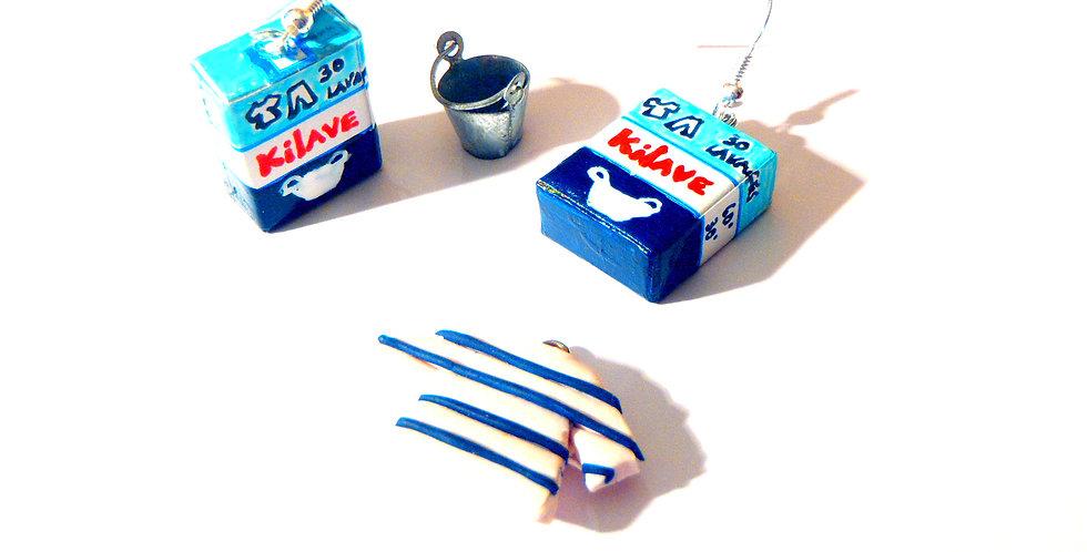 Boucles LA LESSIVE, baril miniature de lessive