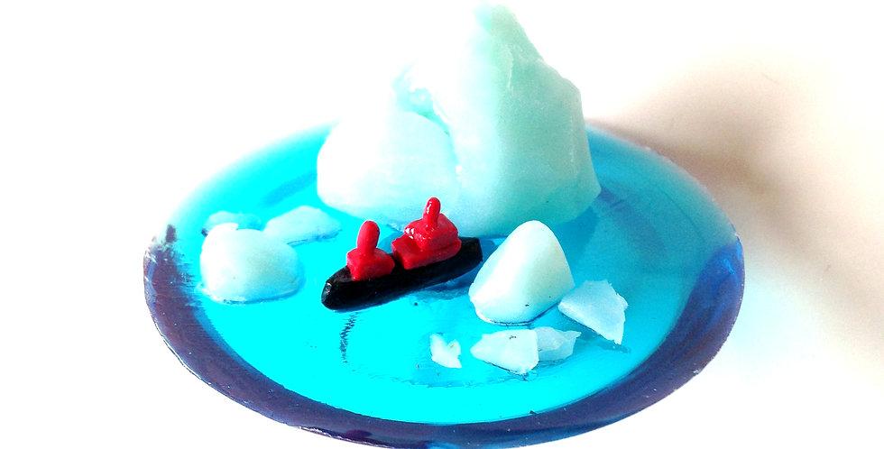 Bague LE BRISE-GLACE, iceberg miniature