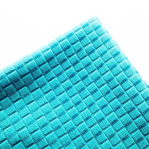 Tissu - Chute de tissu 82 x 53 cm doux géométrique turquoise