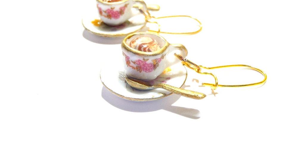Boucles LE P'TIT CAFÉ VIENNOIS, tasses miniatures