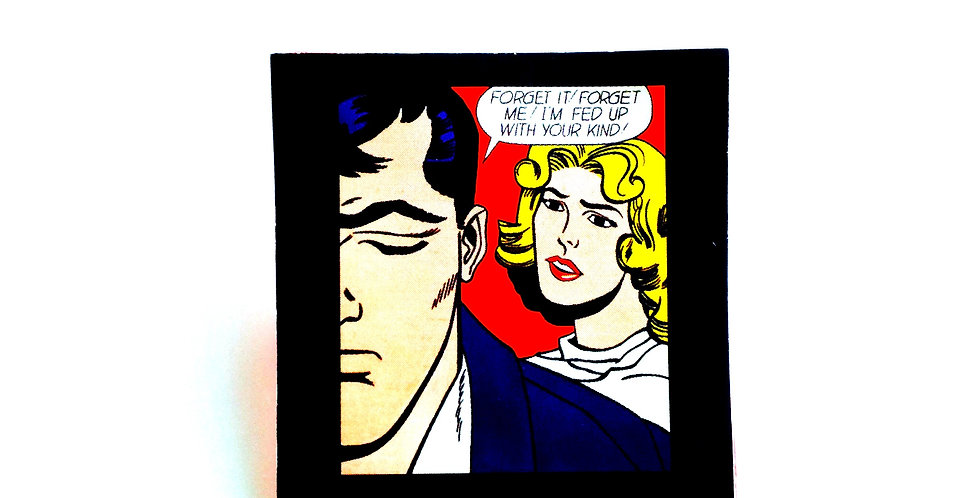 Broche FED UP WITH YOUR KIND, pop art