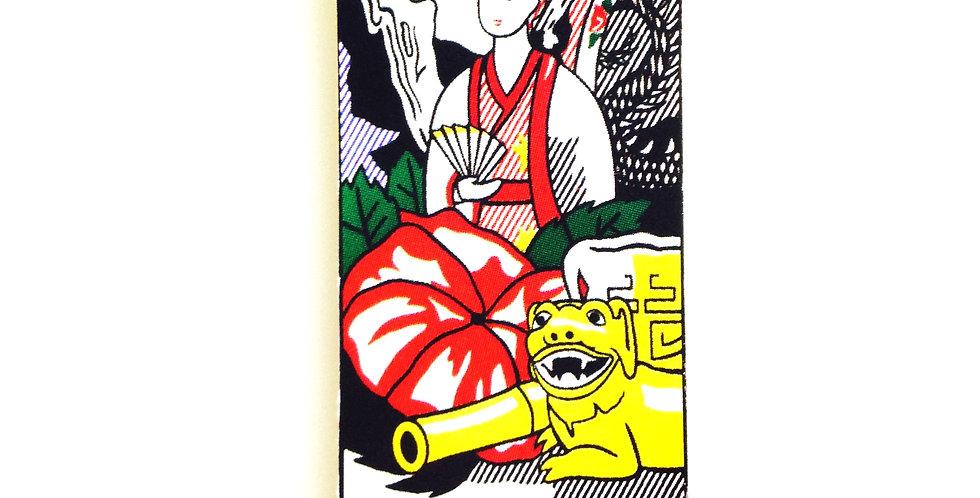 Sautoir LE PARAVENT CHINOIS, pop art rectangle