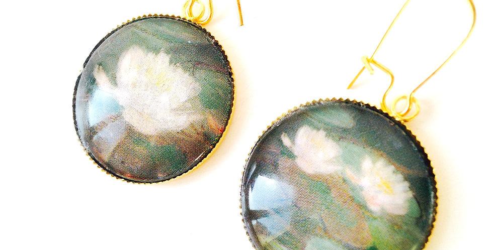 Boucles LES NÉNUPHARS, d'après Les Nymphéas de Monet