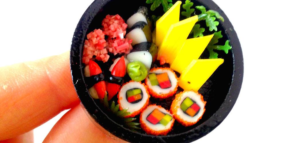 Bague LES SUSHIS, nourriture miniature