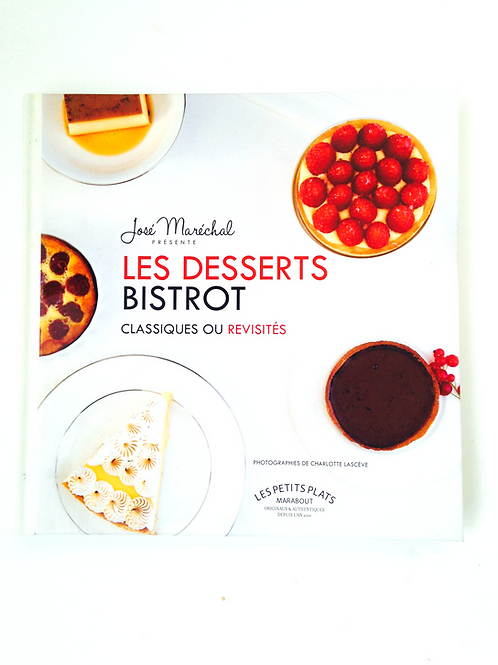 Livre LES DESSERTS BISTROT, recettes, editions Marabout petit format relié