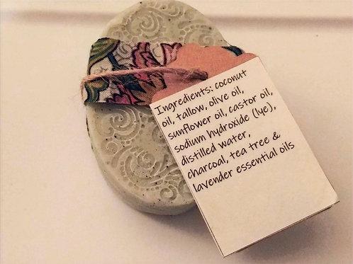 Charcoal & Tea Tree Tallow Soap