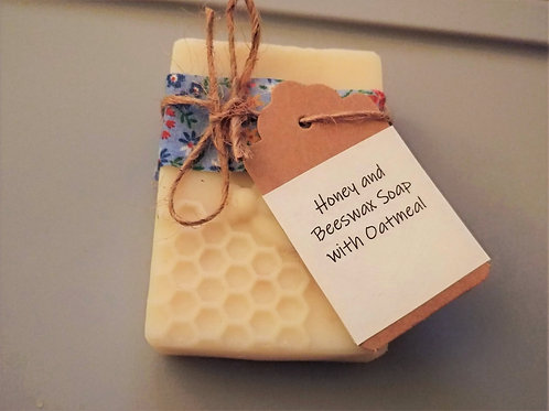 Honey and Beeswax Soap with Oatmeal