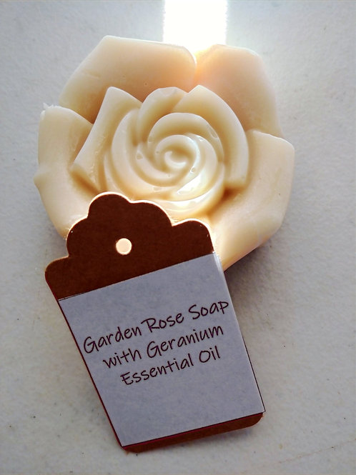 Garden Rose Soap with Geranium Essential Oil