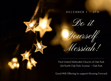 19th Annual Sing Along Messiah - Dec. 1 2PM