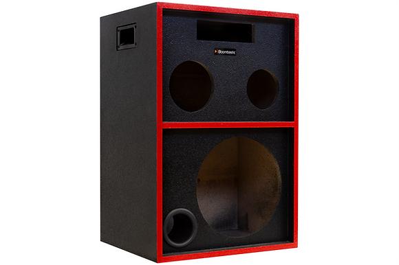 Caixa Trio Bob 1x12 + 1 st + 1 corn - Texturizado Preto + Listras Vermelhas
