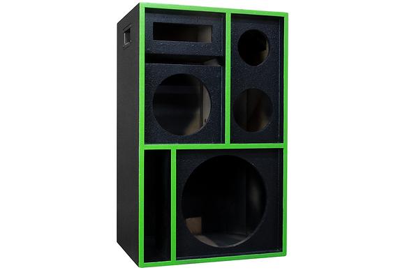 Robozinho 4 Vias 1X12 Pancadão + 1X8 + Corn + St   Texturizado Preto +a Verde