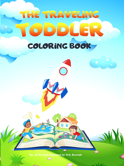 The Traveling Toddler: Coloring Book