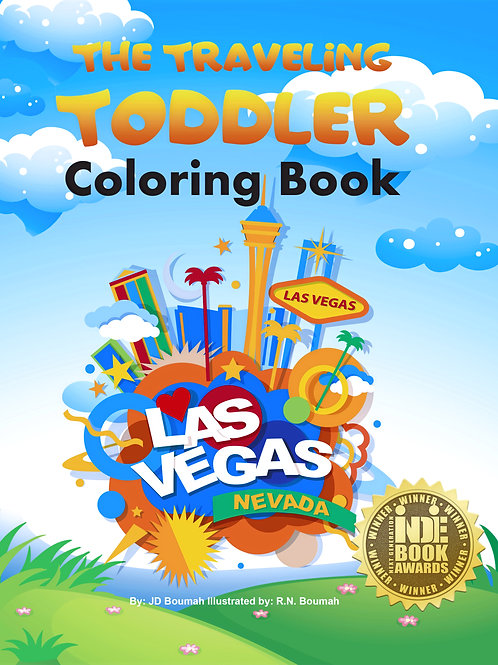 The Traveling Toddler: Las Vegas Children's Coloring Book