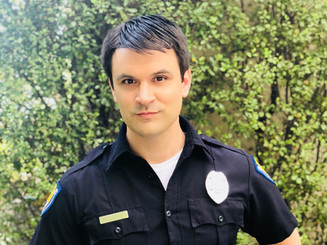 Kash Hovey on the set of Dead Leaf Butterfly