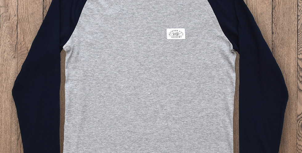 Frontier Baseball Tee - Navy/Grey