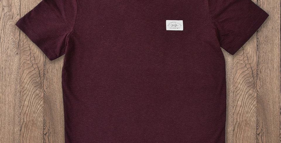 Frontier Tee - Heather Maroon