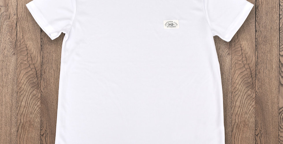 100% Recycled Active Tee - White