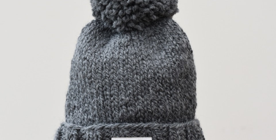 Charcoal Wool Bobble