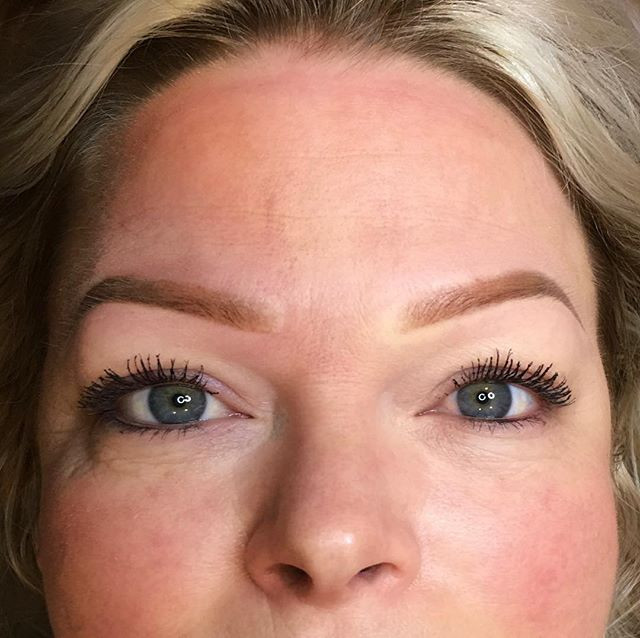 Beautiful, natural powdered brows by Ast