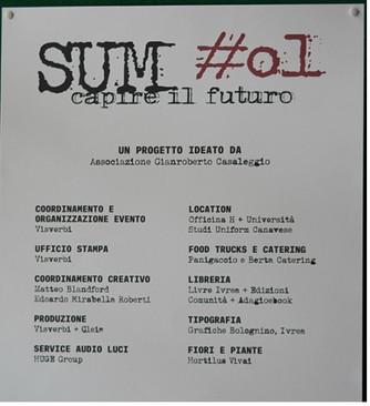 Immagini da #SUM01