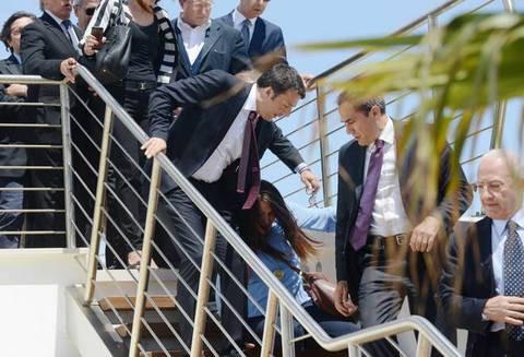 Renzi e De Luca in visita al Marina D'arechi