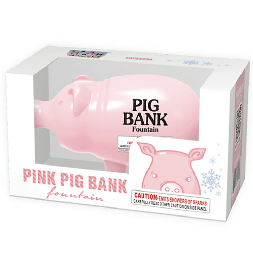 Pink Pig Bank (Toy Firework)