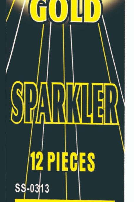 """36"""" Gold Sparkler"""