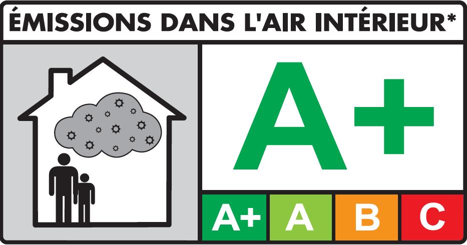 A+ émissions dans l'air intérieur