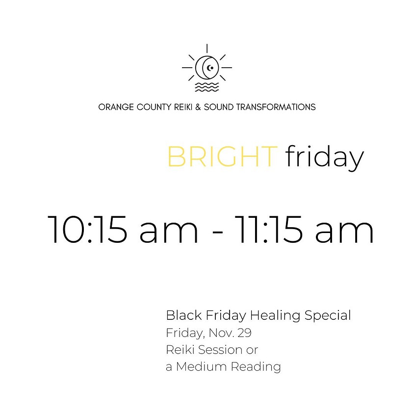 (SOLD OUT) BRIGHT friday | 10:15 am - 11:15 am