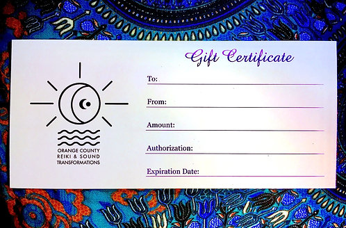 All-Inclusive Gift Certificate